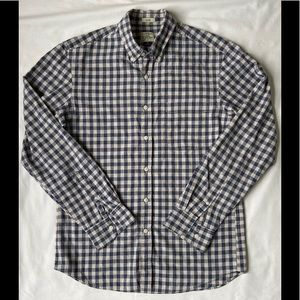 J. Crew Plaid Cotton Casual Button Down Shirt Med